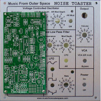 MFOS NOISE TOASTER - PCB and Face Plate